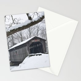 Fallasburg Covered Bridge in Winter Stationery Cards