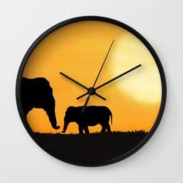 Parenting on the Horizon Wall Clock