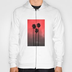 Red Fade Palm Trees Hoody