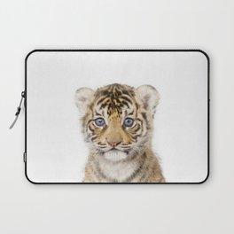 Baby Tiger Art Print by Zouzounio Art Laptop Sleeve