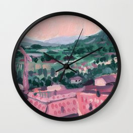Mountain Homes - Abstract Landscape #11 Wall Clock