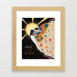 Taking a leap of faith Framed Art Print