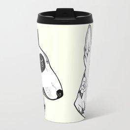 Bull Terrier dog Tattooed Travel Mug
