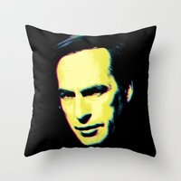 "better call saul Throw Pillows featuring Breaking Bad ""Better Call Saul"" by Steal This Art"
