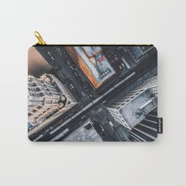 USA Photography - Chicago From Bird Perspective Carry-All Pouch