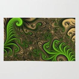 Fantasy World II, Abstract Fractal Art Rug