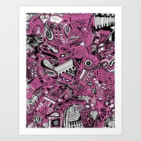 bubblegum Art Prints featuring BubbleGum by DuckyB