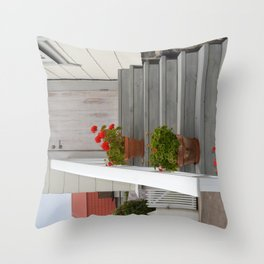 Summer Stairs Throw Pillow