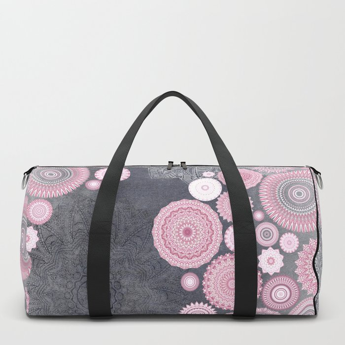 FESTIVAL FLOW - PINK GREY Duffle Bag
