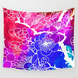 Flowers I Wall Tapestry