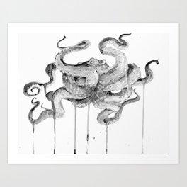 INKOTOBER OCTOPUS Art Print