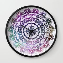 Destination Mandala Wall Clock
