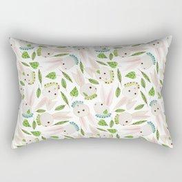 Rabbits in Ruffles Rectangular Pillow