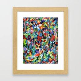 Flower Dance, botanical, floral garden Framed Art Print