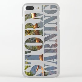 Storm Warning #01 Clear iPhone Case