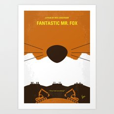 No673 My Fantastic Mr Fox minimal movie poster Art Print