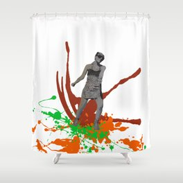 King Kong Girl Shower Curtain