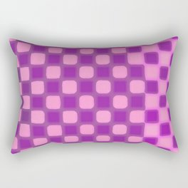 Checker Game: Violet and Pink Rectangular Pillow