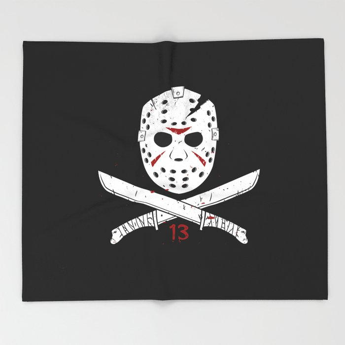 Jason mask Throw Blanket