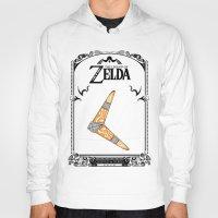 the legend of zelda Hoodies featuring Zelda legend - Boomerang by Art & Be
