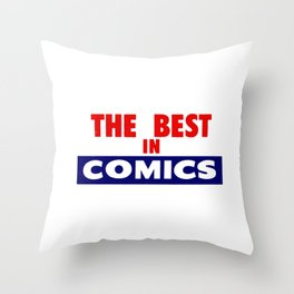 The Best In Comics Throw Pillow