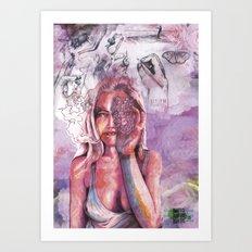 you, me and whatever Art Print