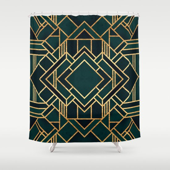 Art Deco 2 Shower Curtain By Elisabeth Fredriksson