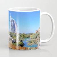 arab Mugs featuring Dubai - Burj Al Arab by Art-Motiva