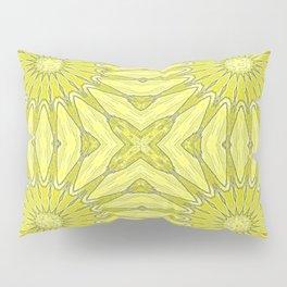 Yellow Pinwheel Flower Pillow Sham