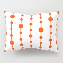 Orange vertical lines and dots Pillow Sham