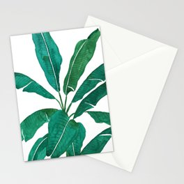 banana leaf watercolor Stationery Cards