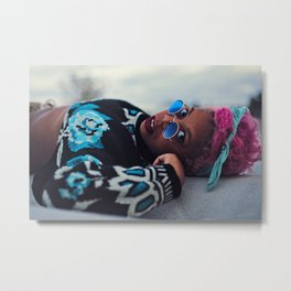 Pink's Blues Metal Print