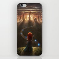 brave iPhone & iPod Skins featuring Brave by Westling