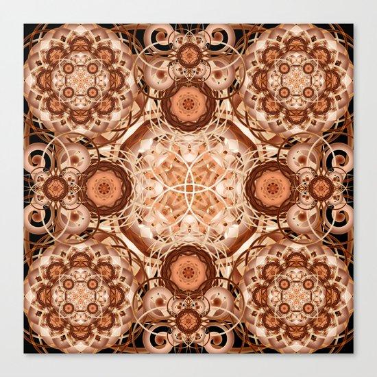Coffee & Cream Mandala Canvas Print