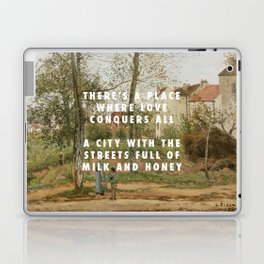 Camille Pissarro, Houses at Bougival (Autumn) (1870) / Halsey, Good Mourning (2017) Laptop & iPad Skin