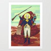 Gouge Washington Art Print