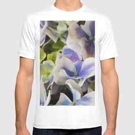 Hydrangea in Blue 3 - Close Up Like Butterflies T-shirt
