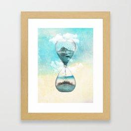 11th Hour Glass Framed Art Print