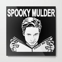 Spooky Mulder (black) Metal Print
