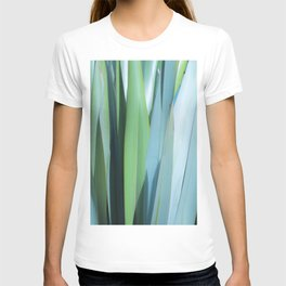 blue and green leaves T-shirt