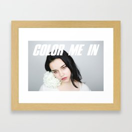 Color Me In Framed Art Print