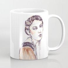 Fashion illustration with golden watercolors Mug