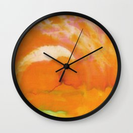 sunset tiedye Wall Clock