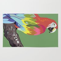 parrot Area & Throw Rugs featuring PARROT by SAMHAIN