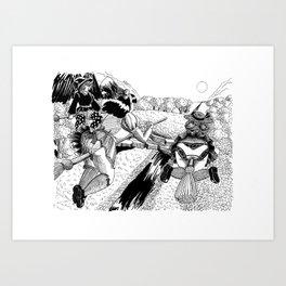 Three Witches Art Print