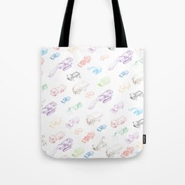 pattern with isometric icons of special equipment and machines Tote Bag