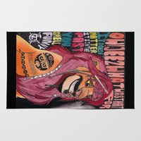 simba Area & Throw Rugs featuring Captain Simba Sparrow of Pride Rock by Frances May K