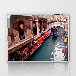 Gondolas On A Small Venetian Canal Laptop & iPad Skin
