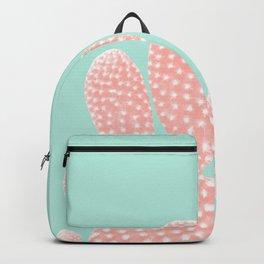 Apricot Blush Cactus on Mint Summer Dream #1 #plant #decor #art #society6 Backpack