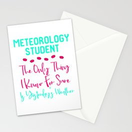 Meteorology Student Yesterday's Fun Weather Quote Stationery Cards